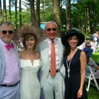 Caption: Bailey and Lori Baynham, Bill Peatross and Lynette Rossi