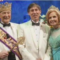 Caption: King Bill Kelly, Captain Larry Petiette and Queen Tracey Cox