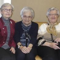 Caption: Opal Wimberly, Helen Weisman and Lavella Chrisman
