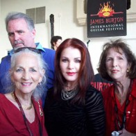 Caption: Betty Humphries, Priscilla Presley, Barbara Festervan